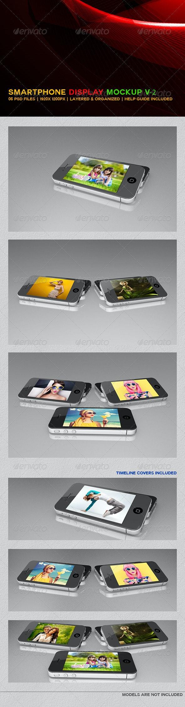 Smartphone Display Mockup V2 - Mobile Displays