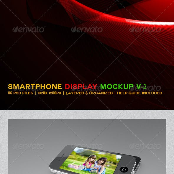 Smartphone Display Mockup V2