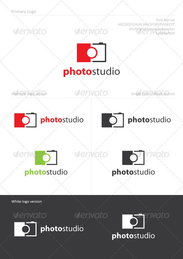 Photo Studio - Objects Logo Templates