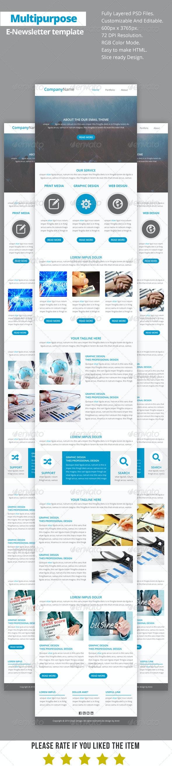 Multipurpose E-Newsletter Template V14 - E-newsletters Web Elements