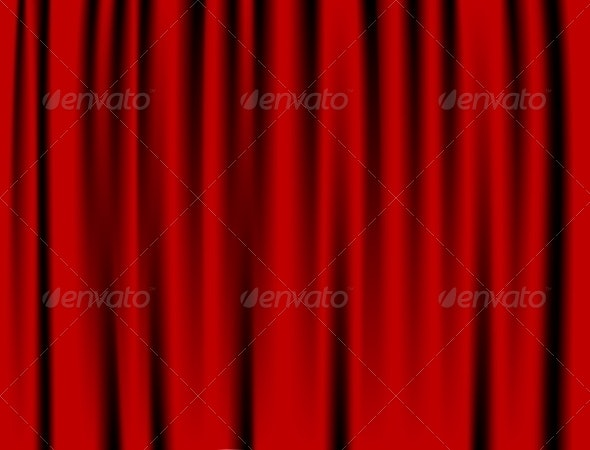 Luxury Red Curtain - Backgrounds Decorative