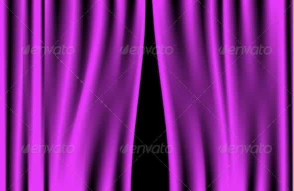 Luxury Purple Curtain - Backgrounds Decorative