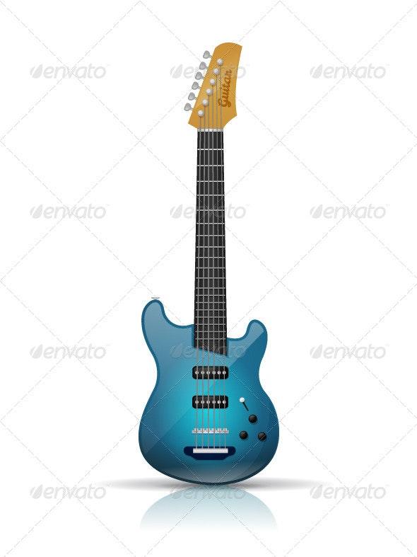 Electric Guitar - Objects Vectors