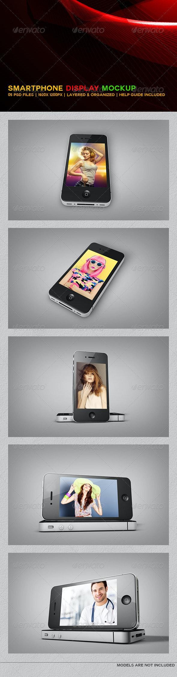 SmartPhone Display MockUP - Mobile Displays