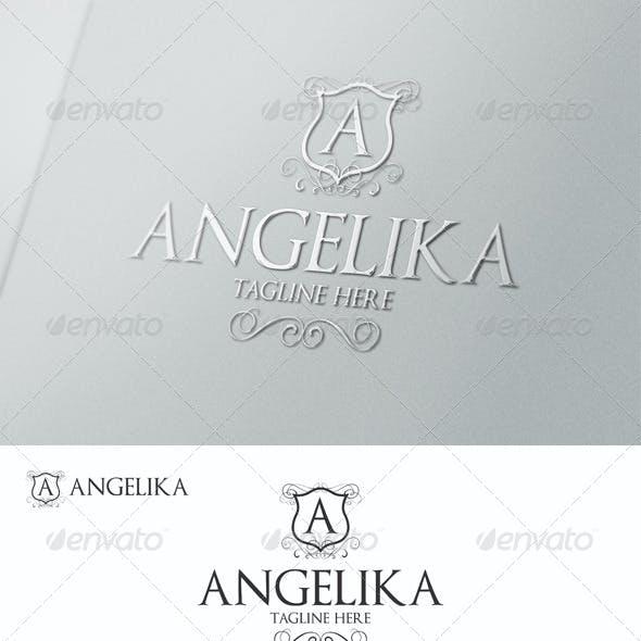 Angelika - Elegant Calligraphic Crest Logo
