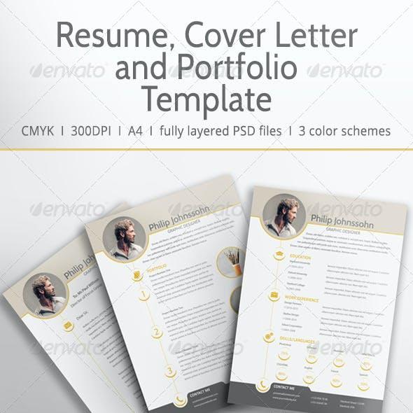 Resume/CV, Cover Letter And Portfolio