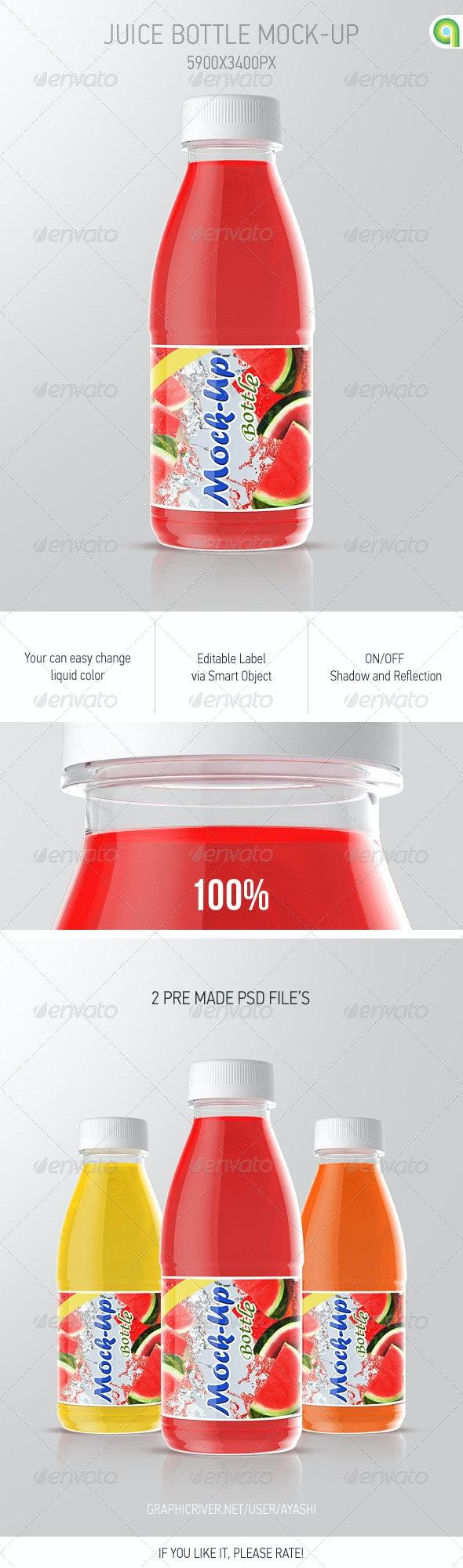 Juice Bottle Mockup - Food and Drink Packaging