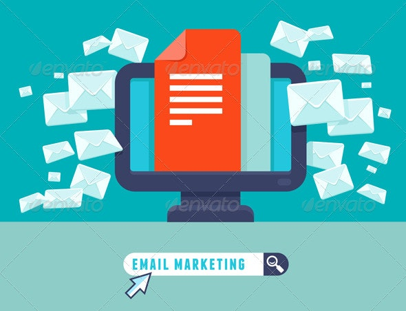 Vector Email Marketing Concept - Technology Conceptual