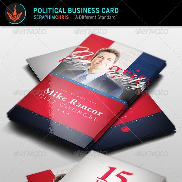 Political Business Card Template 2