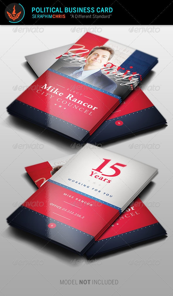 Political Business Card Template 2 - Corporate Business Cards