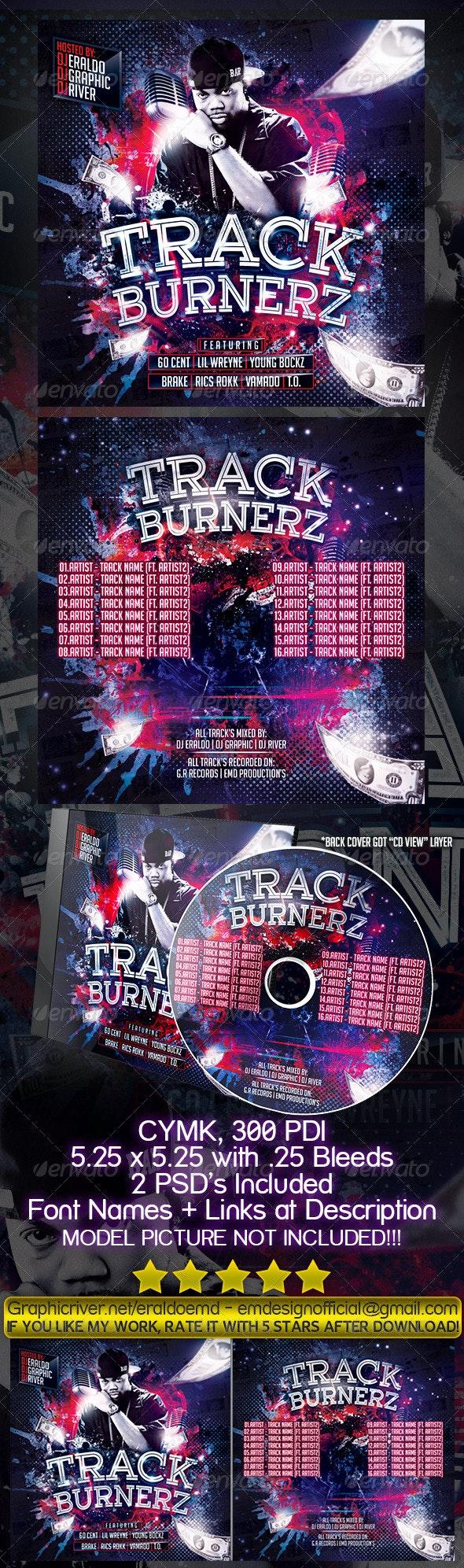 Underground Mixtape Cover Track Burnerz - CD & DVD Artwork Print Templates