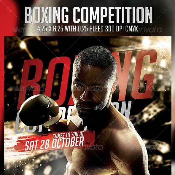 Boxing Competition Flyer Template