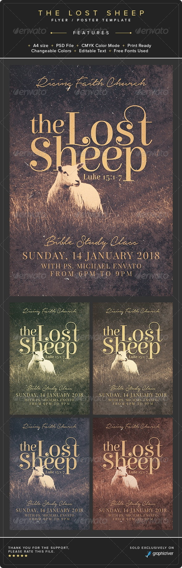 The Lost Sheep Flyer/Poster Template - Church Flyers