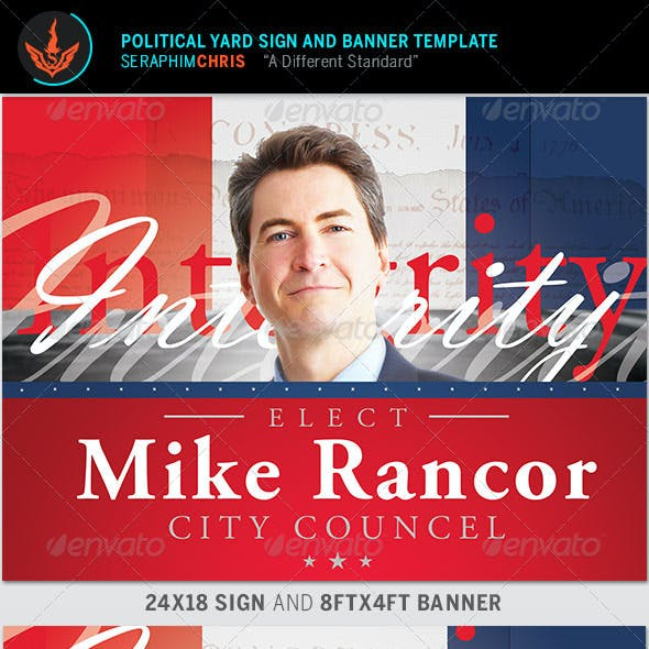 Political Yard Sign and Banner Template