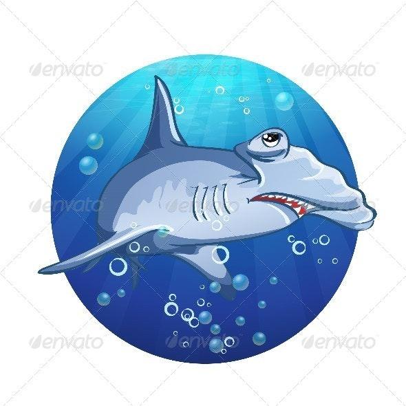 Hammerhead Shark Cartoon - Animals Characters