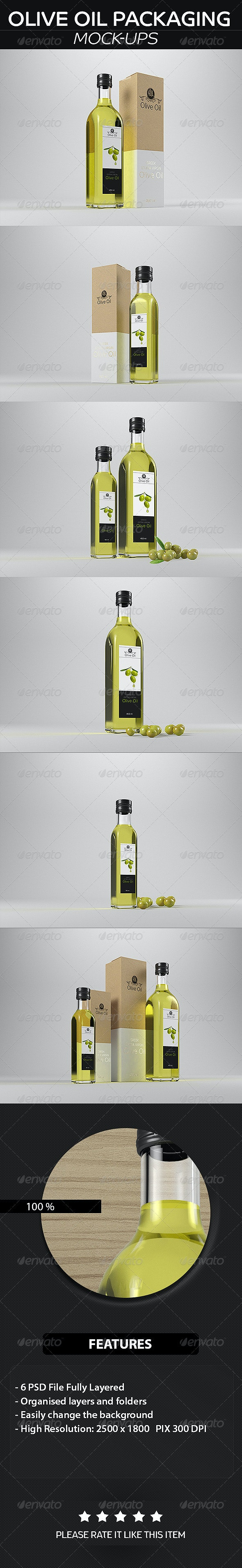 Olive Oil Packaging  Mockup - Food and Drink Packaging