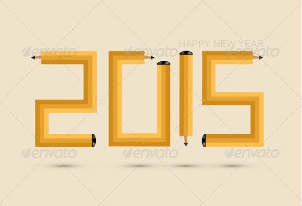 Pencil New Year Background - New Year Seasons/Holidays