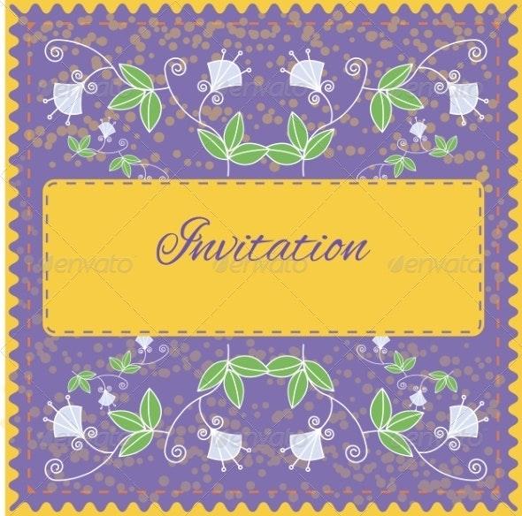 Floral Invitation Card - Flowers & Plants Nature