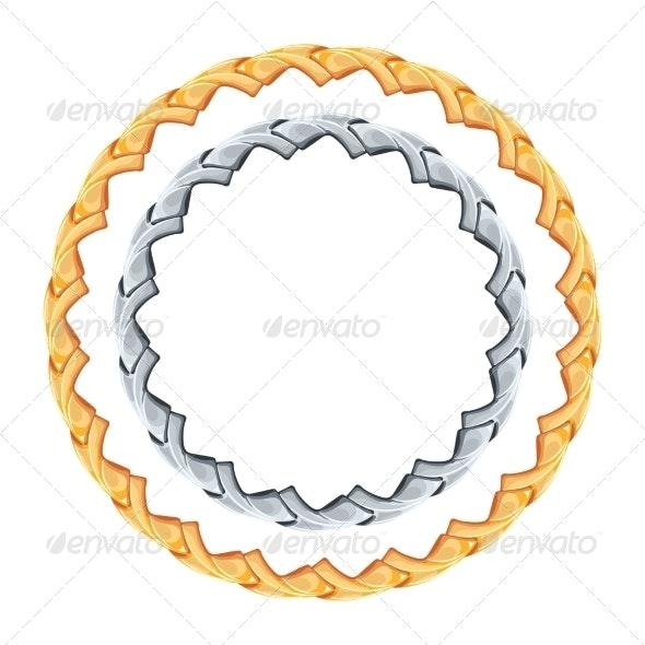 Gold and Silver Chain - Decorative Symbols Decorative
