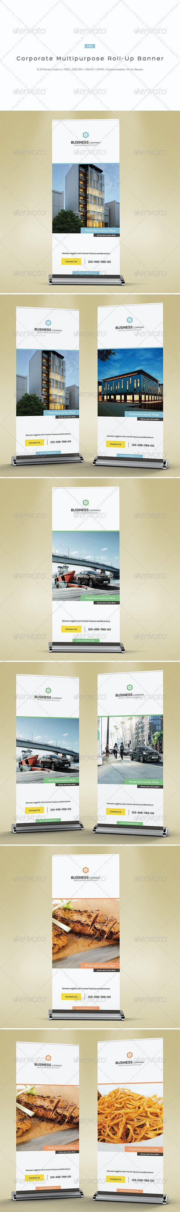 Corporate Multipurpose Roll-Up Banner - Signage Print Templates