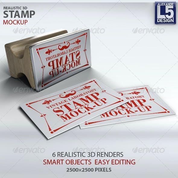 Stamp Business Card Mock-Up