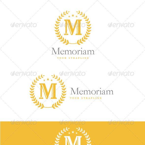 Memoriam Letter M Logo