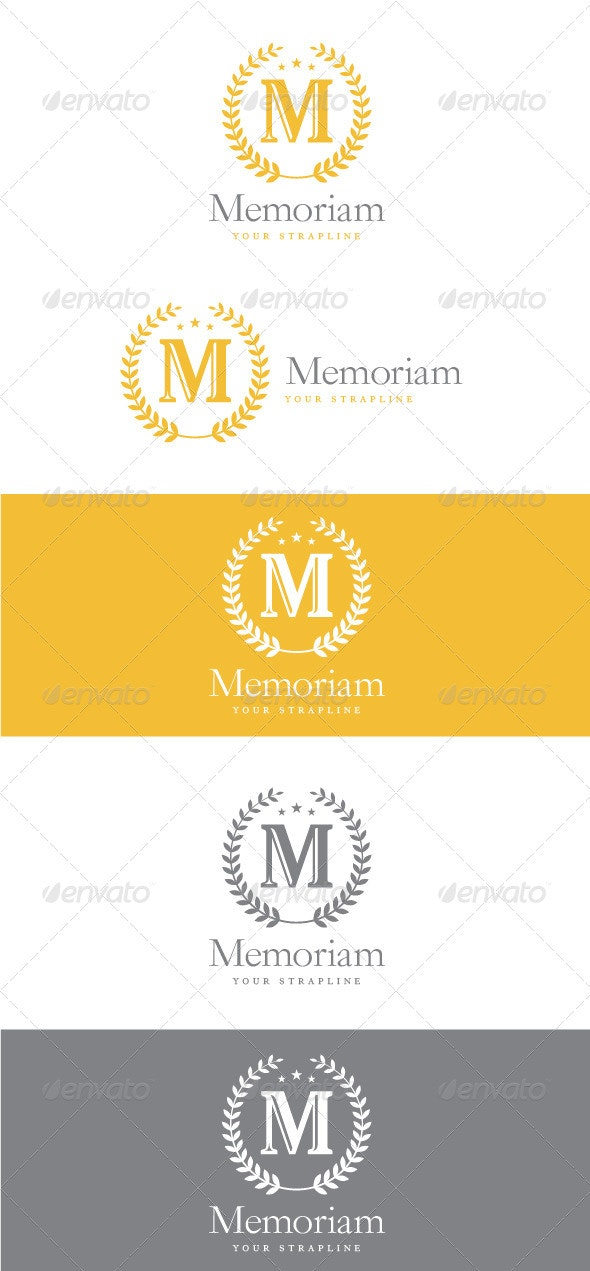 Memoriam Letter M Logo - Letters Logo Templates