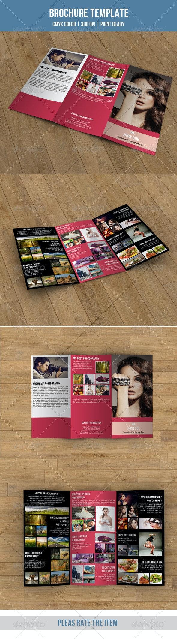 Tri-fold Photography Brochure-V61 - Corporate Brochures