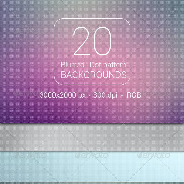 20 Blurred Dot Pattern Backgrounds