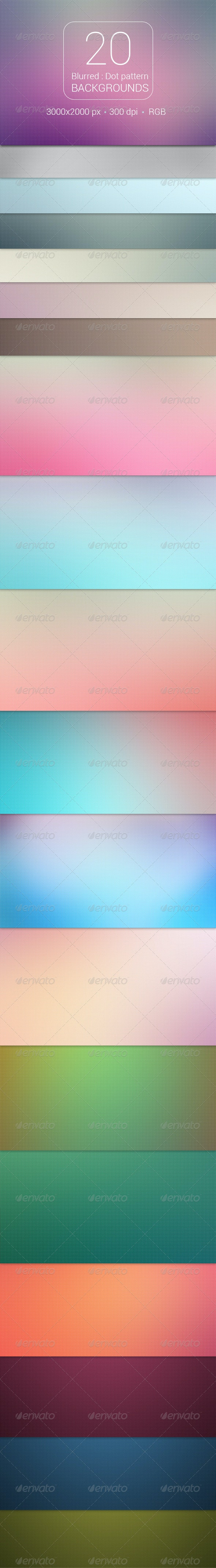 20 Blurred Dot Pattern Backgrounds - Backgrounds Graphics