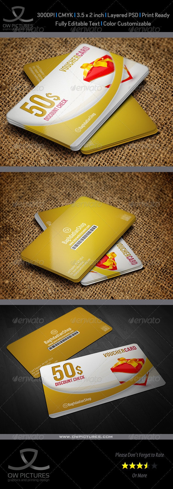 Gift  Voucher Card Template Vol.11 - Cards & Invites Print Templates