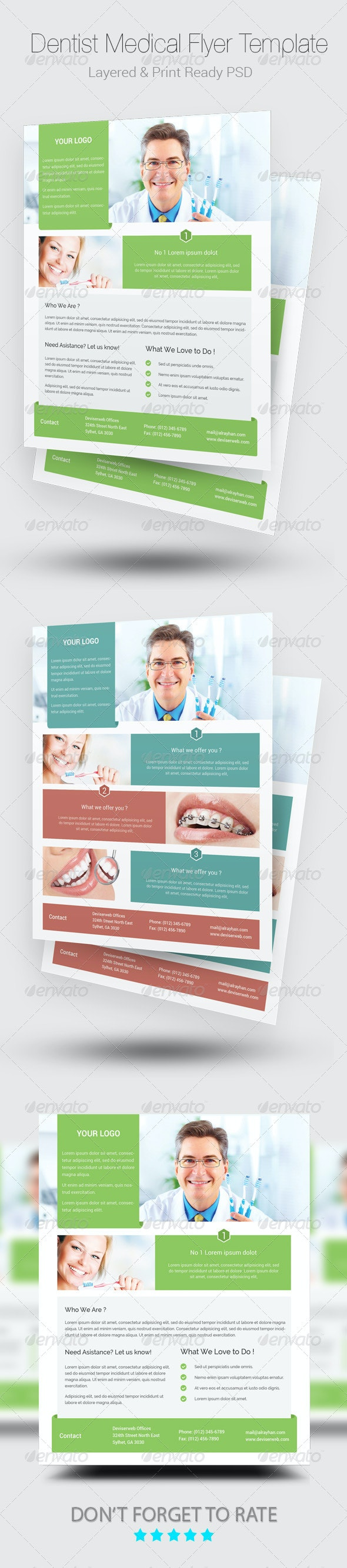 Medical Dentist Flyer Templates - Corporate Flyers