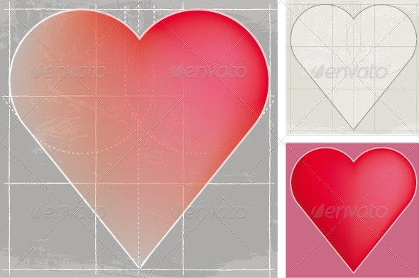 Heart, Sketch - Decorative Symbols Decorative
