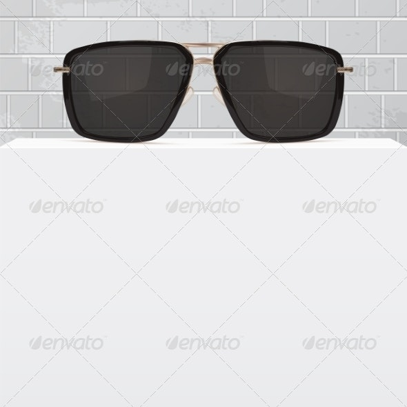 Abstract Background with Realistic Sunglasse - Backgrounds Decorative