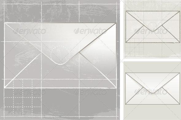 Mail, Sketch - Decorative Symbols Decorative