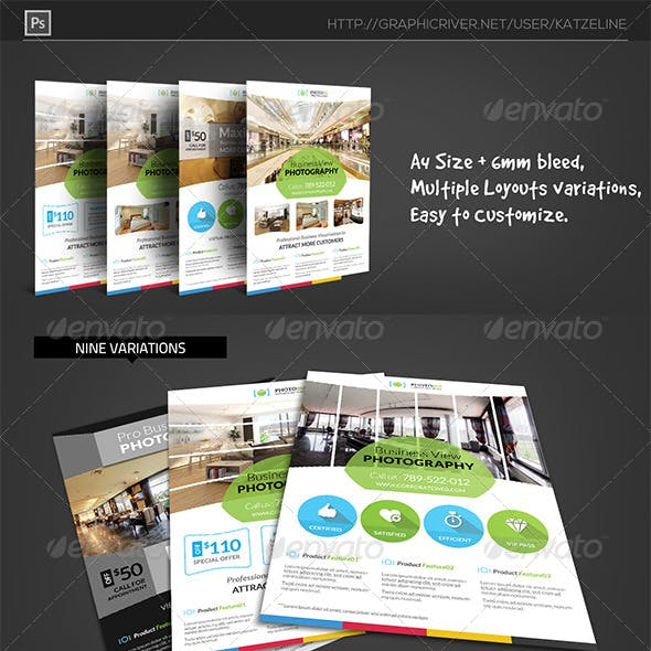 Business View Photography Flyer Template