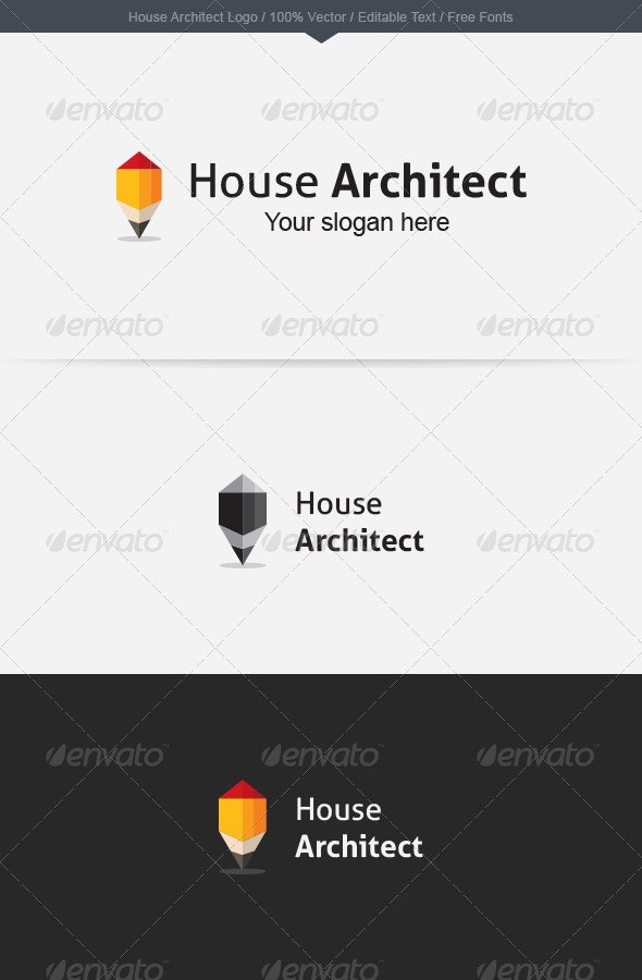 House Architect Logo - Buildings Logo Templates