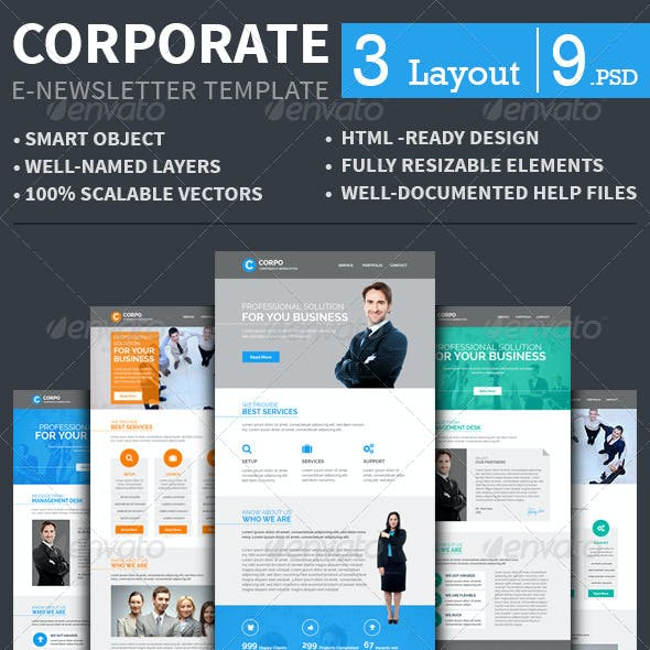 Corporate E-newsletter Template