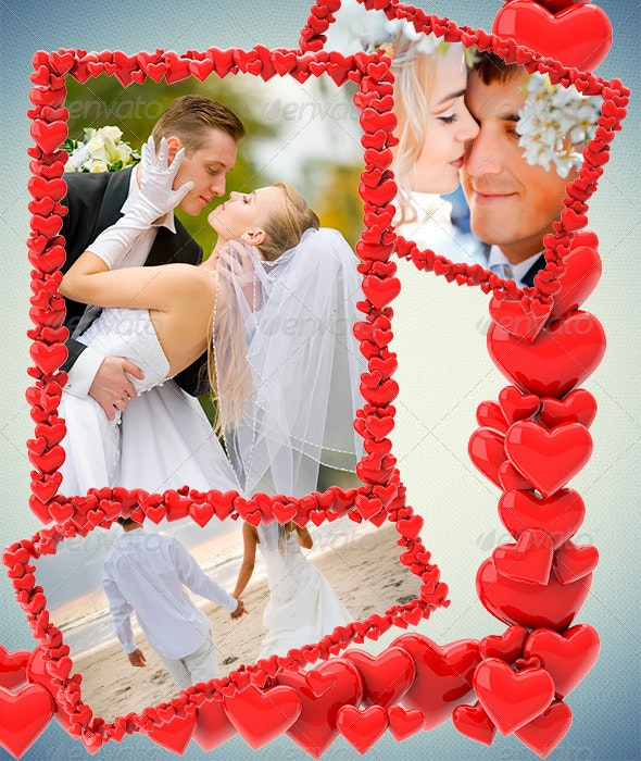 Frames of Hearts - Artistic Photo Templates