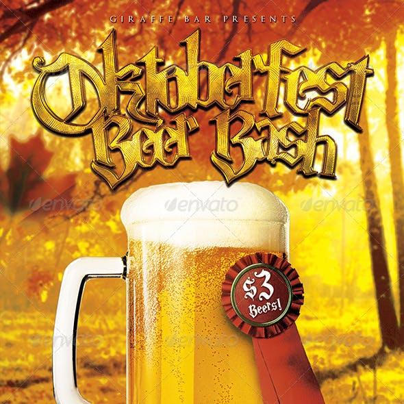 Oktoberfest Beer Bash Flyer Template