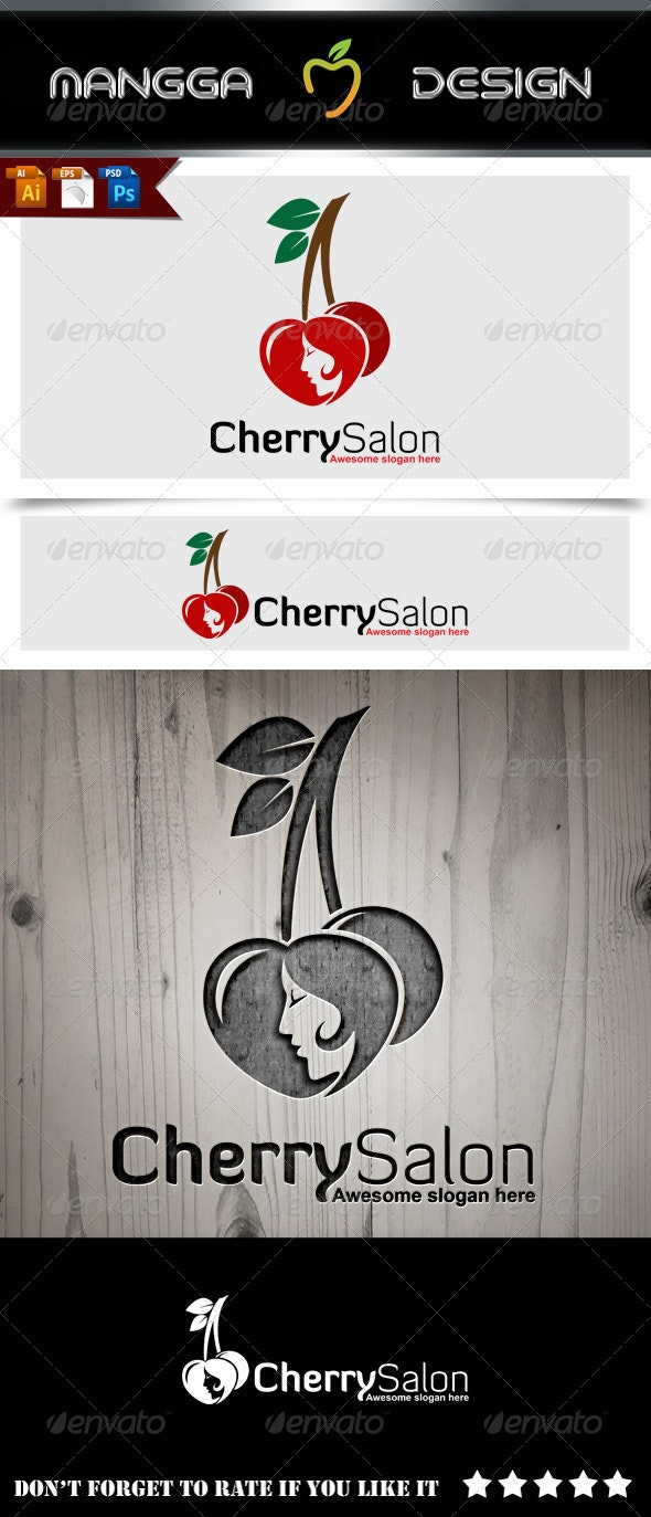 Cherry Salon Logo - Nature Logo Templates