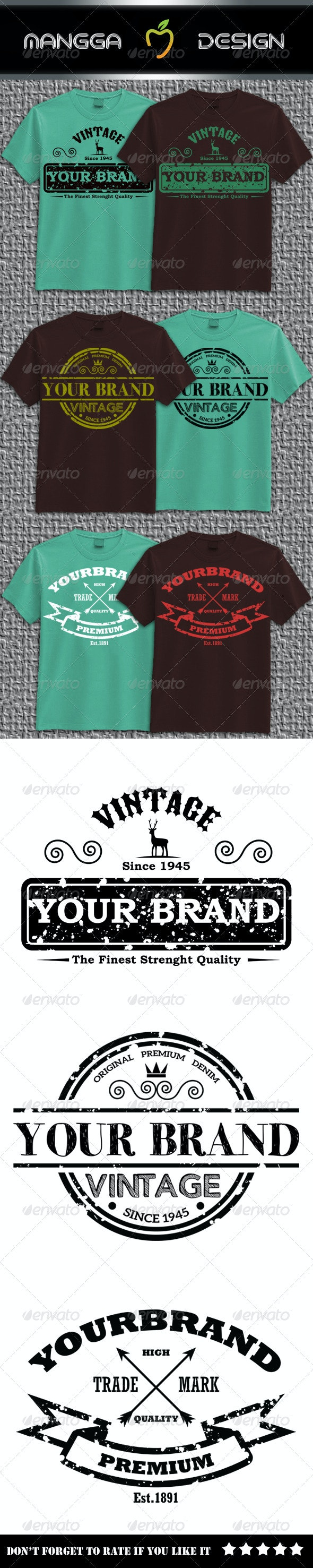Vintage Brand T-shirt - Business T-Shirts