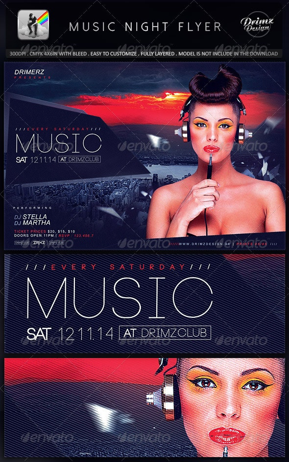 Music Night Flyer - Events Flyers