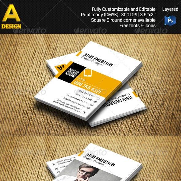 Modern Personal Business Card AN0401