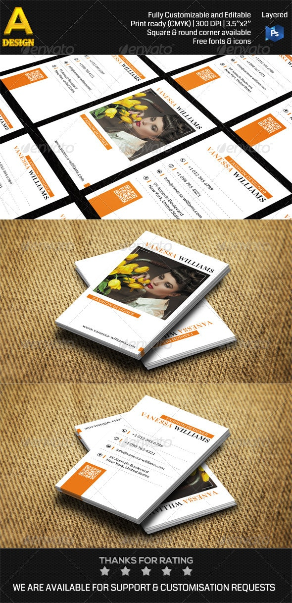 Modern Personal Business Card AN0407 - Creative Business Cards