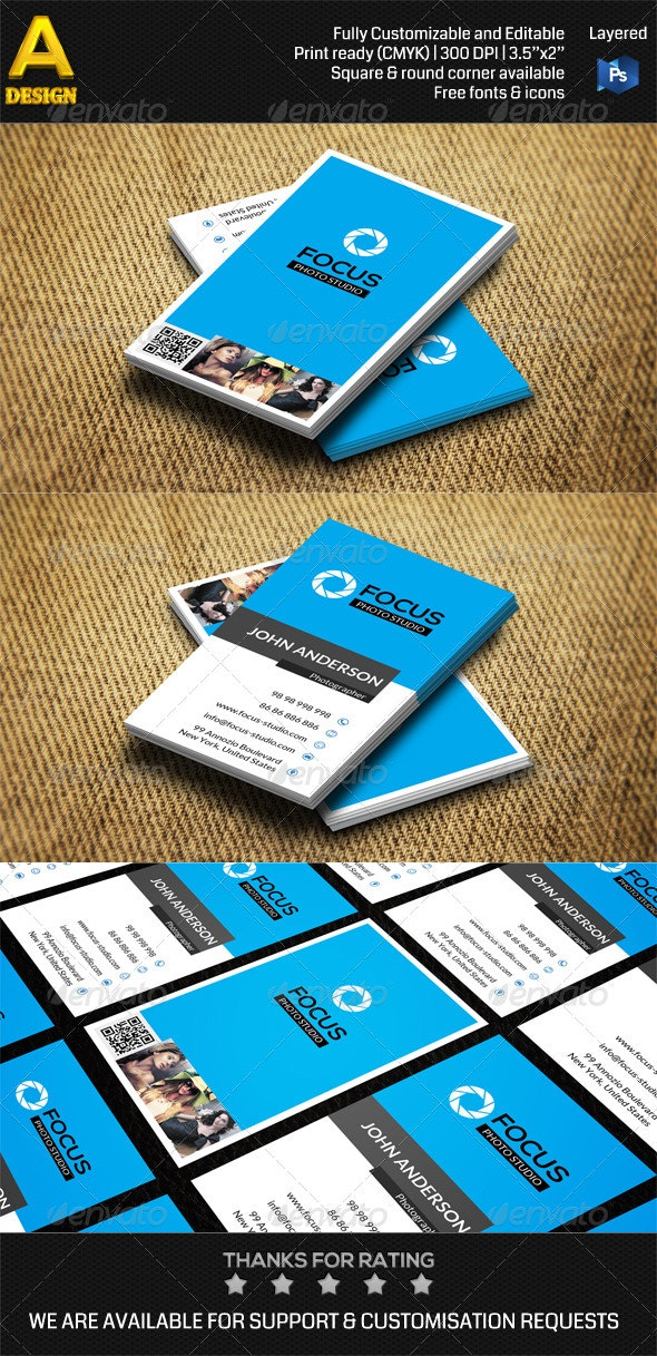 Photo Studio Business Card AN0410 - Industry Specific Business Cards