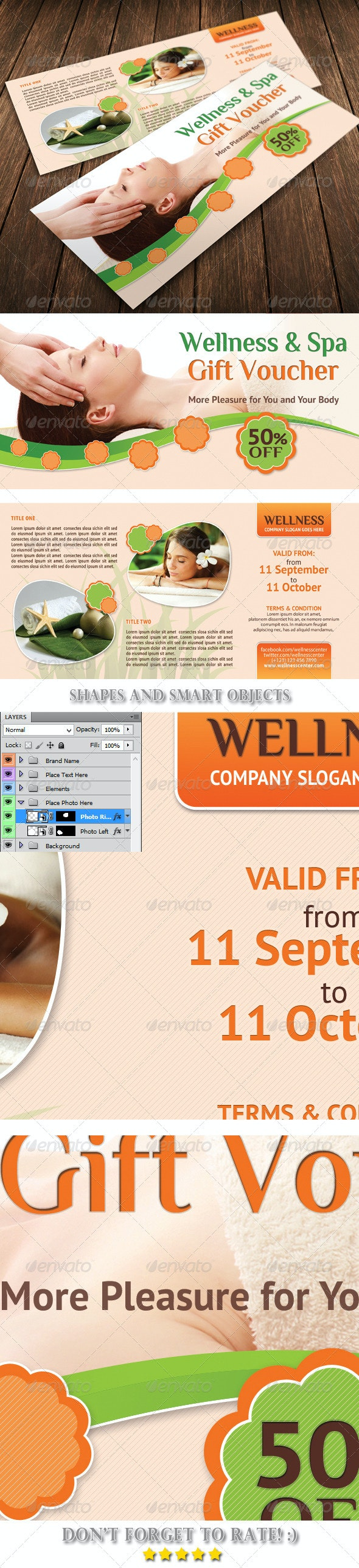 Wellness and Spa Gift Voucher 08 - Cards & Invites Print Templates