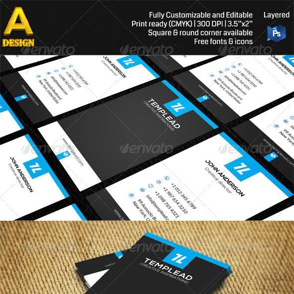 Modern Corporate Business Card AN0411