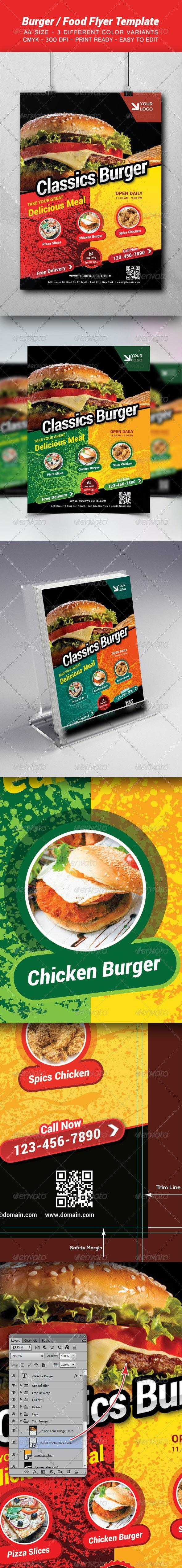 Burger / Food Template - Restaurant Flyers
