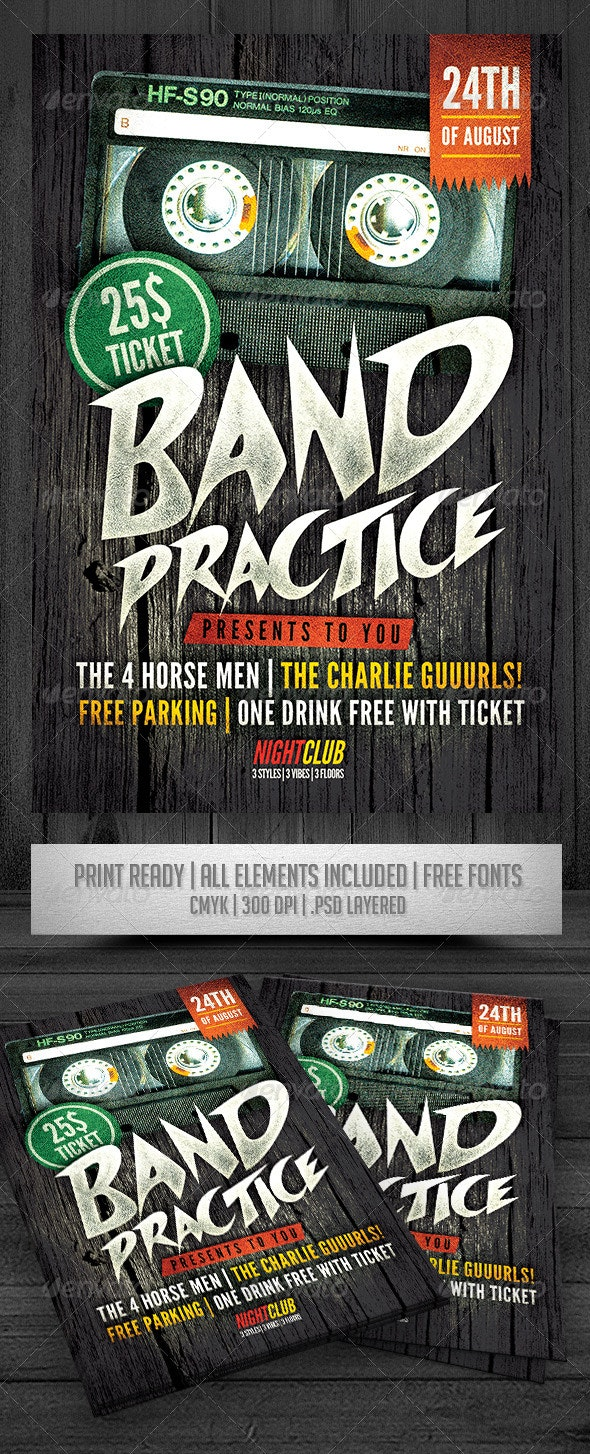 Band Practice Flyer - Events Flyers